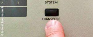 Read more about the article À bas la touche transpose !!